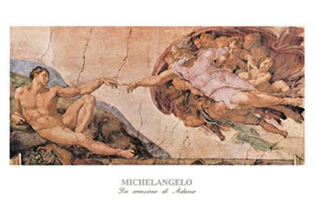 La creazione di Adamo Kunstdruck Michelangelo