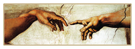 Creation of Adam Kunstdruck Michelangelo
