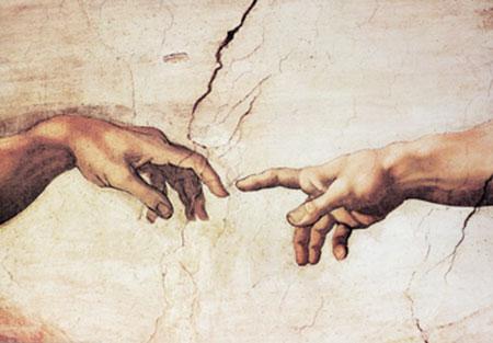 Creazione di Adamo Kunstdruck Michelangelo
