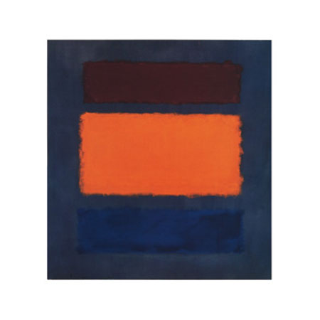 Brown, Orange, Blue on Maroon Kunstdruck Rothko Mark