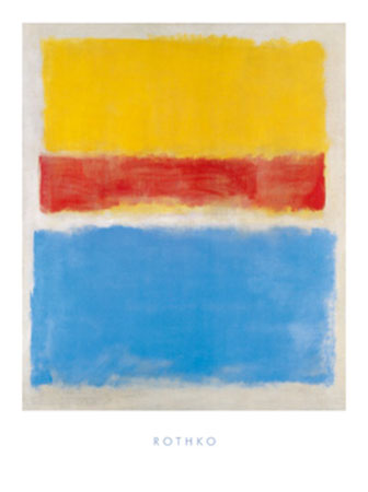 Untitled (Yellow-Red and Blue) Kunstdruck mit Lack glänzend Rothko Mark