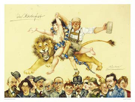 Das Oktoberfest Kunstdruck Prechtl Michael-Mathias
