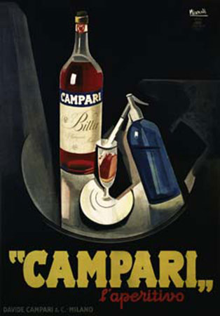 Campari Kunstdruck Nizzoli Marcello