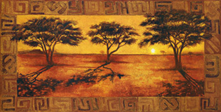 Serengeti Sunset Kunstdruck Madou