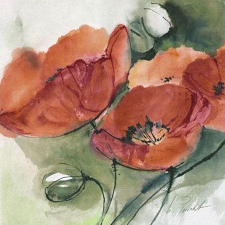 Mohnblüten Kunstdruck Peuckert Marta