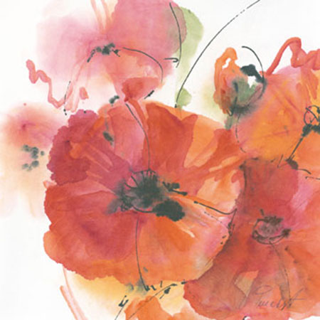 Mohnblüte in Gesellschaft Kunstdruck Peuckert Marta