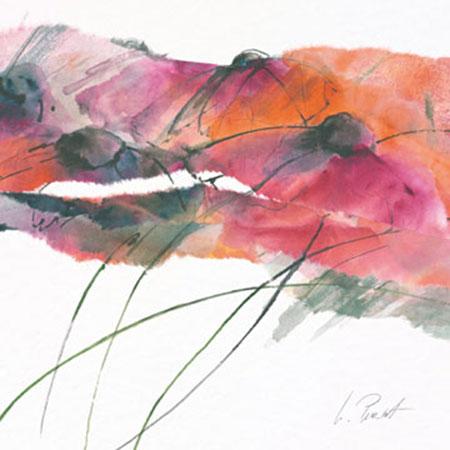 Modern Poppy II Kunstdruck Peuckert Marta