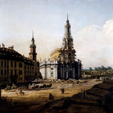 Dresden vom Elbufer Canaletto