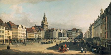 Der Alte Markt in Dresden Canaletto