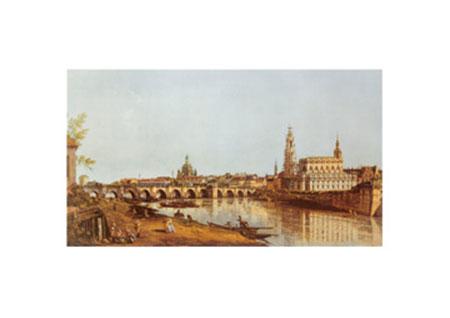 Dresden, Elbufer Kunstdruck Canaletto