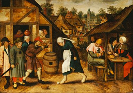 Der Eiertanz Brueghel Pieter d. J.