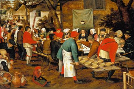 Bauernmahlzeit vor einer Schänke Brueghel Pieter d. J.
