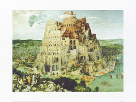 The Tower of Babel, 1563 Kunstdruck Brueghel Pieter d. Ä.