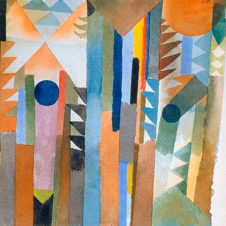 Der Wald, der aus dem Samenkorn. Klee Paul