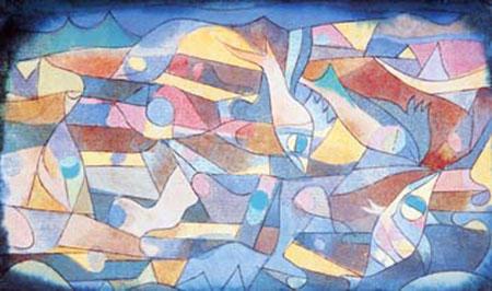 Spielende Fische Klee Paul