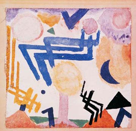 Landschaftliches Hieroglyph Klee Paul