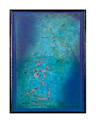 Fischbild, 1925 Kunstdruck Klee Paul
