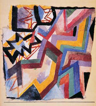 Farbige und grafische Winkel Klee Paul