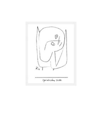 Engel voller Hoffnung Kunstdruck Klee Paul