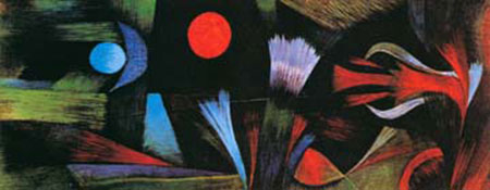 Landschaft bei Vollmond Klee Paul