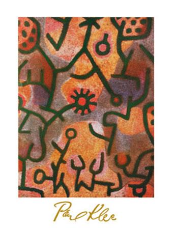 Flora di Roccia Kunstdruck mit Folienprägung Klee Paul