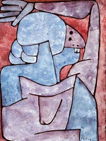 Verfluchende Frau Klee Paul