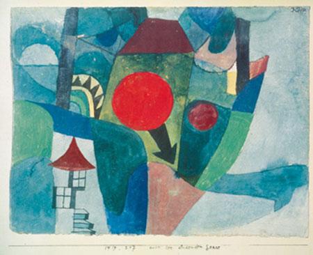 Landschaft mit der unterg. Sonne Kunstdruck Klee Paul