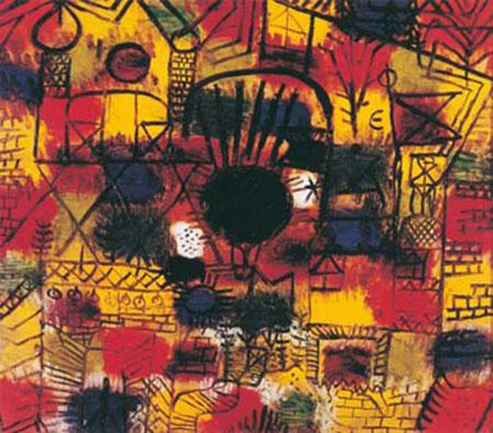 Komposition mit schwazem Punkt Klee Paul