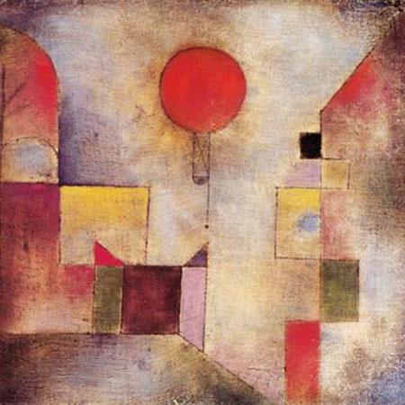 Roter Ballon Klee Paul