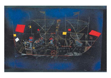 Abenteuerschiff Kunstdruck Klee Paul