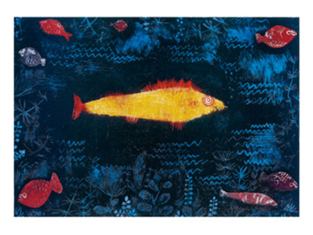 The golden Fish Kunstdruck Klee Paul