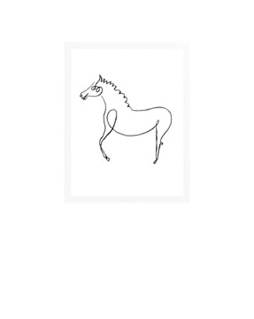 The horse Kunstdruck Picasso Pablo