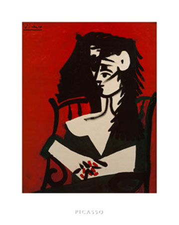 Jacqueline a Mantil Kunstdruck Picasso Pablo