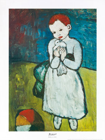 Bambina con colomba Kunstdruck Picasso Pablo