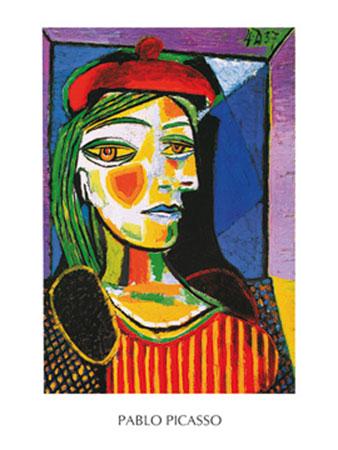 Femme au beret rouge Kunstdruck Picasso Pablo