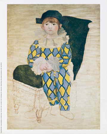 L'Arlecchino Kunstdruck Picasso Pablo