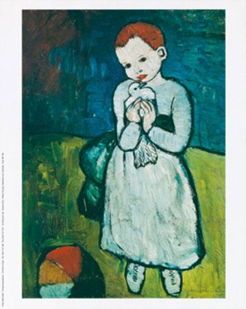 ,ambina con colomba Kunstdruck Picasso Pablo