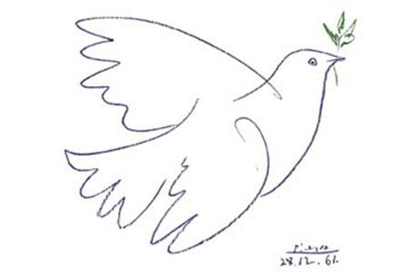 Colombe Bleue Kunstdruck Picasso Pablo