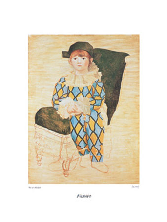 Paul en arlequin Kunstdruck Picasso Pablo