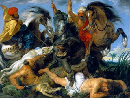 Jagd auf Nilpferd und Krokodil Rubens Peter Paul