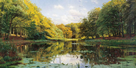 River Landscape Kunstdruck Monsted Peder