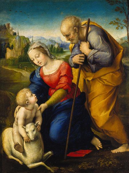 Die heilige Familie mit Lamm Raffael