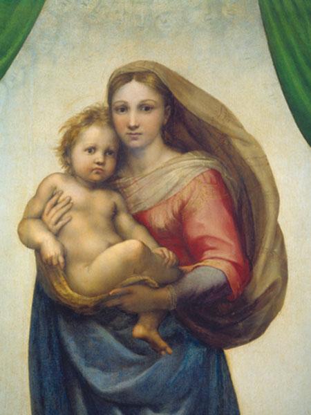 Maria mit dem Kind Raffael