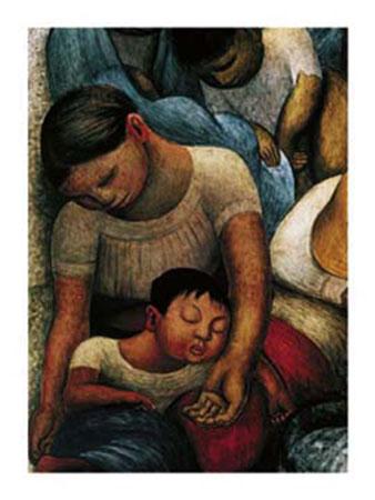 La Noche de Los Pobres Kunstdruck Rivera Diego