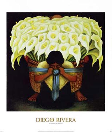 El Vendedor de Alcatraces Kunstdruck Rivera Diego
