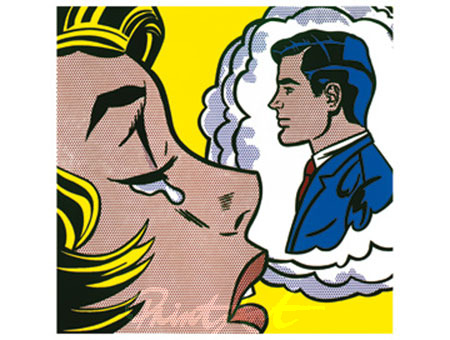 Thinking of him Kunstdruck Lichtenstein Roy
