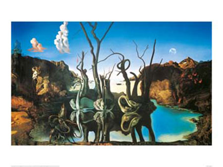 Reflections of Elephants Kunstdruck Dali Salvador