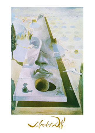 Apparition du visage Kunstdruck mit Folienprägung Dali Salvador