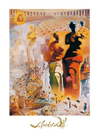 El torero hallucinogene Kunstdruck mit Folienprägung Dali Salvador