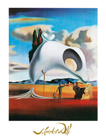 Vestiges ataviques Kunstdruck mit Folienprägung Dali Salvador
